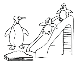 Penguin Sliding Coloring Page Penguin Sliding Coloring Page Baby