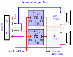 special applications spdt relays stereo to bridged mono relay diagram