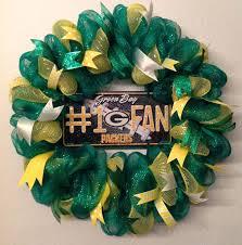 nfl green bay packers wreath deco mesh door hanger decoration 1 fan