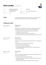 Dog Groomer Resume Resume Pet Groomer Resume 11
