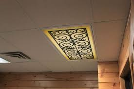 Custom Fit Decorative Fluorescent Light Covers Panels Diffuser Wrought Iron  | Light Covers, Wrought Iron And Diffusers