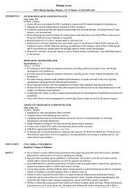 Research Administrator Sample Resume Research Administrator Resume Samples Velvet Jobs 4