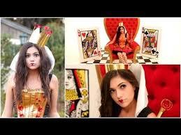 diy tim burton s queen of hearts costume makeup