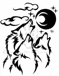 Images For Tribal Wolf Drawing Howling пригодится
