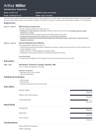 Maintenance Resume Examples For A Worker Supervisor