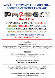 Print Raffle Tickets At Home Need A Fund Raiser Philly Sports Raffle