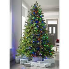 Dual Led Light Christmas Tree Pre Lit Windsor Fir Multi Function Christmas Tree With 300