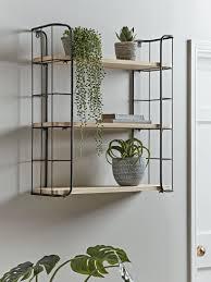 wooden kitchen shelves with hooks uk