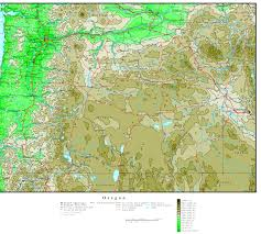 Oregon Elevation Map