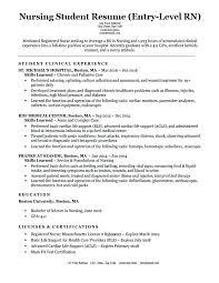 Nursing Resume Samples Entry Level Nursing Student Resume Sample