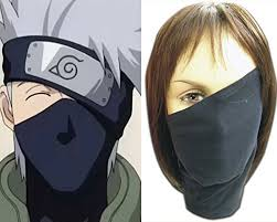 Naruto Sensei Chart Black Cosplay Anime Naruto Hatake Kakashi Sensei Ninja Veil