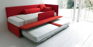 modern pull out bed on rails