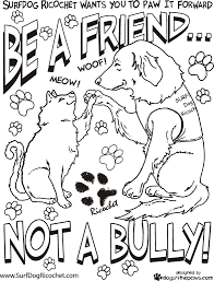 Free Bullying Coloring Pages Free Printable For Kids Worksheets