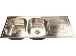 sink double bowl with drain board 621 x trendy 47x20 satin franke