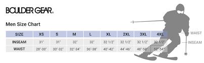 Boulder Gear Size Chart Boulder Gear Pinnacle Bib Mens