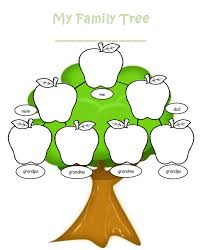 Blank Family Tree Template Welcome To The Kindergarten