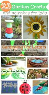 garden theme crafts and activities for kids ece