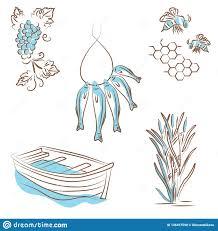 иллюстрация вектора логотип о типах лета воссоздания на реке