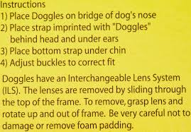Doggles Originalz Dog Goggles Black Small