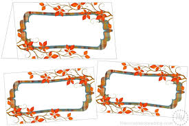 Fall Place Cards Perfectly Plaid Thanksgiving Place Cards The Scrap Shoppe