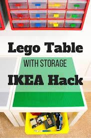 diy lego table with storage ikea