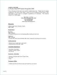 Resume High School Student – Markedwardsteen.com