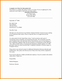 Analyst Cover Letter Resume Templates Data Analyst Cover Letter Example No Experience 12