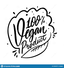 <b>100 Vegan</b> Product <b>Calligraphy</b> Phrase. Black Ink. Hand Drawn ...