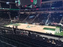 Fiserv Forum Section 105 Milwaukee Bucks Rateyourseats Com