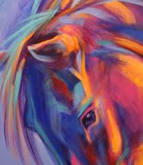 abstract horse paintings horse art equine art for original abstract
