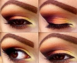 how to apply eyeshadow brown yellow steps by steps on how to apply eyeshadow in basic ways eyeshadow trends fashion