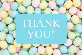 Thank You Easter Old Fashion Easter Greeting Retro Easter Eggs Candy With Text