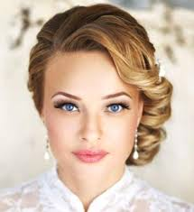 hairstyles for wedding guest. a very fancy look fit for black tie affair, this style has every hair perfectly in place, and is best suited medium without too much layering. hairstyles wedding guest