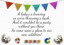 how to word a baby shower invitation baby shower invitation wording and messages wishesmsg