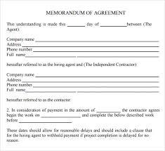 Memorandum Of Understanding Template Mesmerizing Moa Agreement Metierlink
