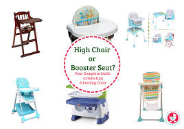high chair or booster seat or a
