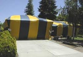 Image result for fumigate in with a procedure called tenting