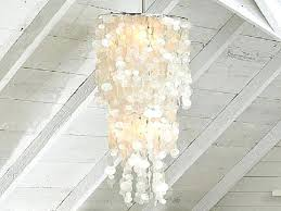 capiz shell chandelier extra large