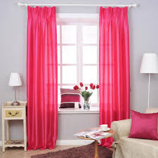 Decorations:Cool Red Simple Bedroom Curtains Design With Contemporary White  Floor Lamp And Striped Colorful