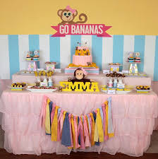 The Monkey party ideas and elements that I like best from this third birthday celebration are: Kara\u0027s Party Ideas Girly Themed Birthday {Ideas, Decor