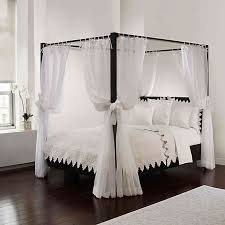 Tie Sheer Bed Canopy Curtain Set in White | Bed Bath & Beyond