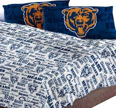 chicago bedding nfl chicago bears sheet set anthem bed sheets contemporary on chicago bears bedding sets