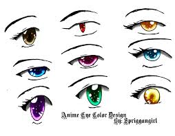 anime eyes color. Fine Color Anime Eye Color Design By Spriggangirl  Throughout Eyes Y