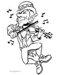 Small Picture Leprechaun Coloring Pages for St Patrick Day
