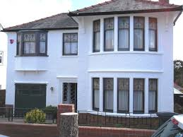 painting exterior housePeriod property Cardiff painted with Exterior Wall Coatings