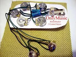 rickenbacker compatible rickenbacker 5 ctrl stereo vintage rep wiring harness 360 620