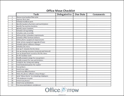 Internal Office Move Checklist Template Business Relocation