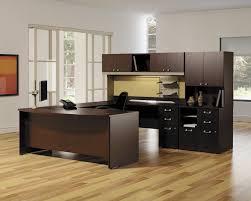 contemporary home office desks. Furniture. Engaging Home Office Decoration Using Dark Brown Black Wood Cabinet Modular Desk Contemporary Desks