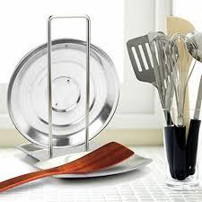 spoon rest countertop lid holder rack kitchen utensils holder stainless steel