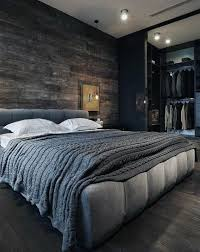 Contemporary bedroom men Luxury Modern Mens Bedroom Grey With Dark Wood Walls And Flooring Pinterest 80 Bachelor Pad Mens Bedroom Ideas Manly Interior Design Home